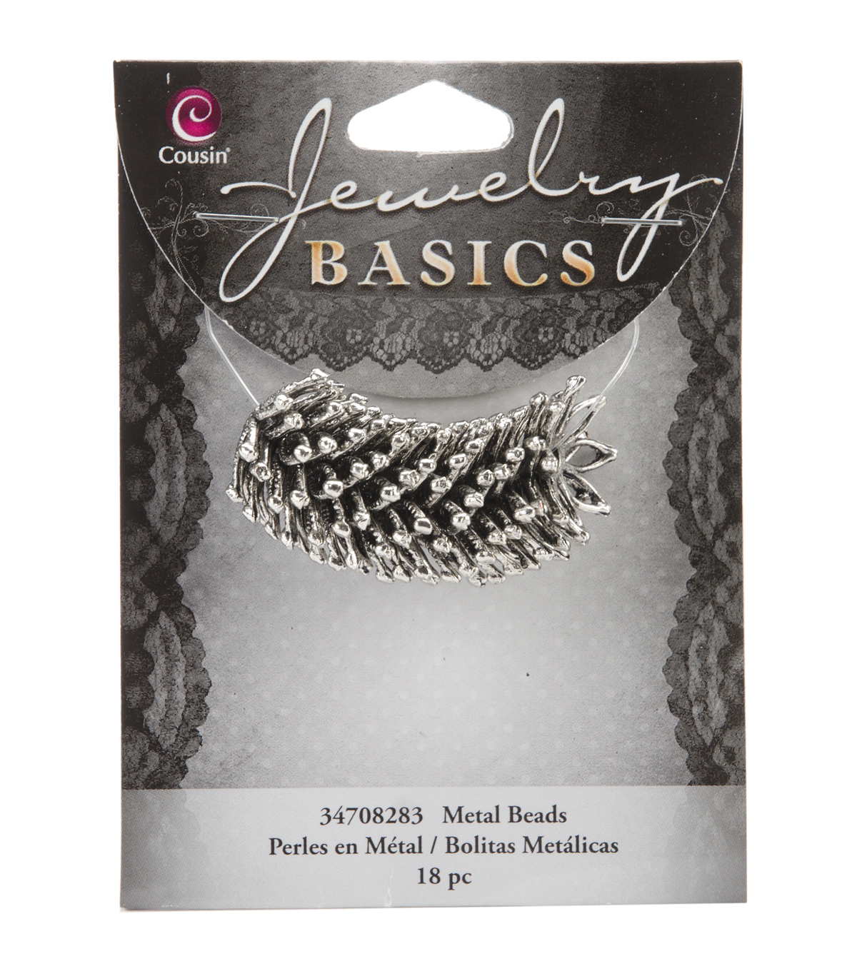 Jewelry Basics Metal Beads 18/Pkg-Silver Large Star Cap