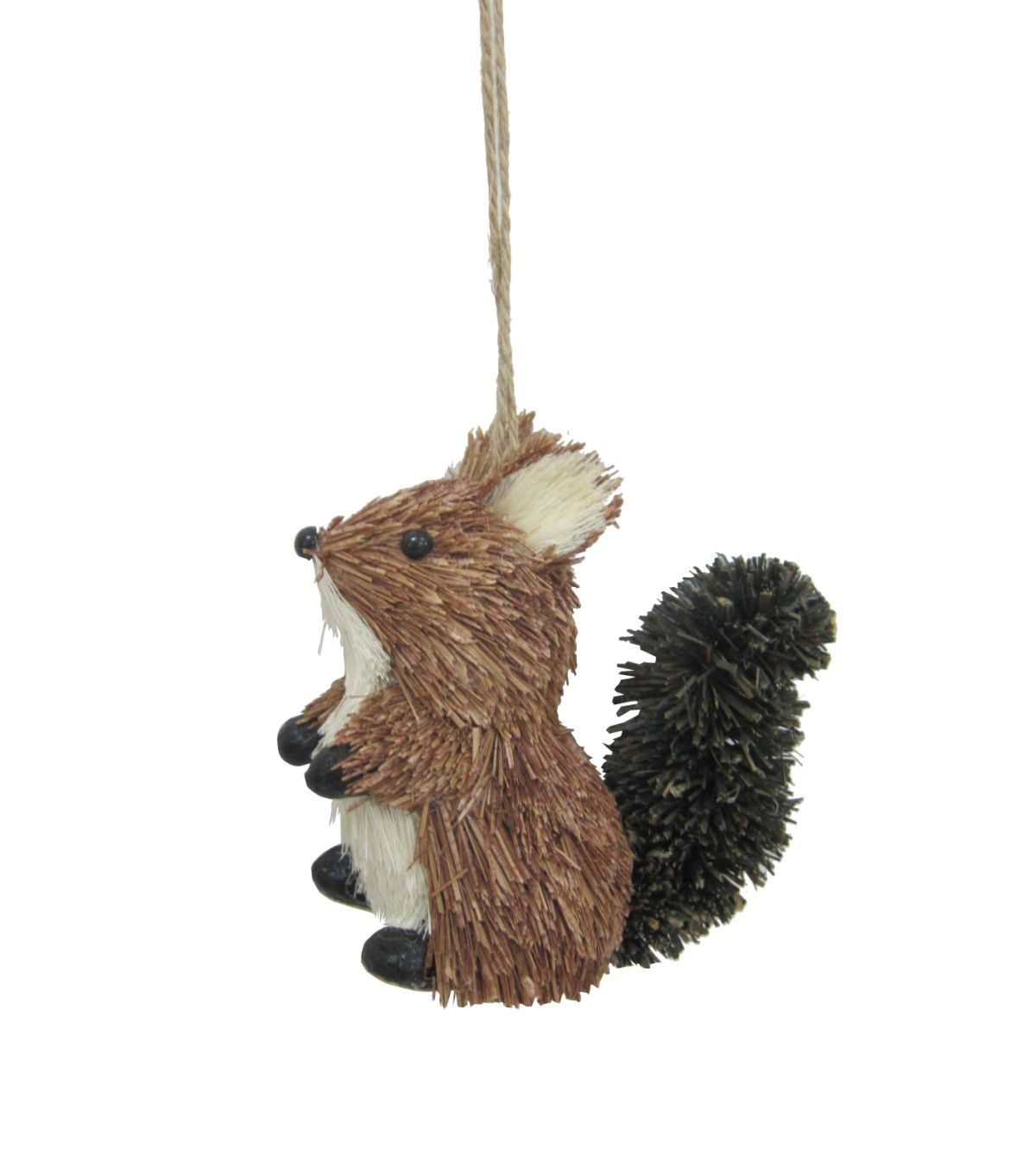 Maker\u0027s Holiday Christmas Woodland Lodge Small Sisal Squirrel Ornament