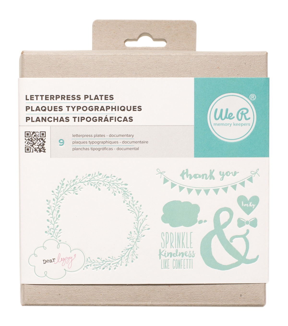 We R Memory Keepers™ Dear Lizzy Documentary Letterpress Plates