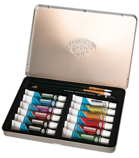 Watercolor Paint Art Kit With Tin 8-1/2\u0027\u0027x6\u0027\u0027