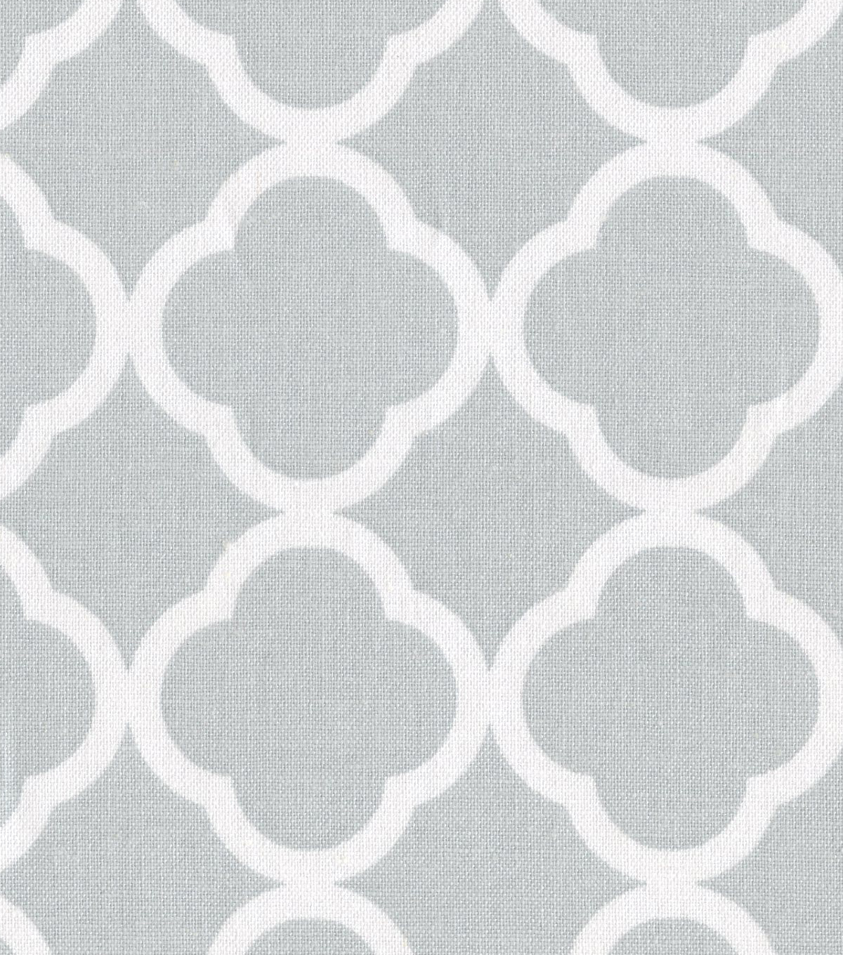 Keepsake Calico™ Cotton Fabric 44\u0022-Quatrefoil Gray&White