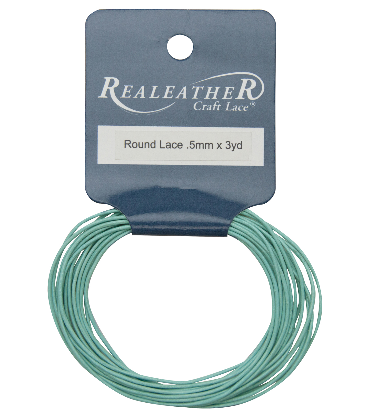.5mm Leather Cord, Lt. Blue, 3 yards