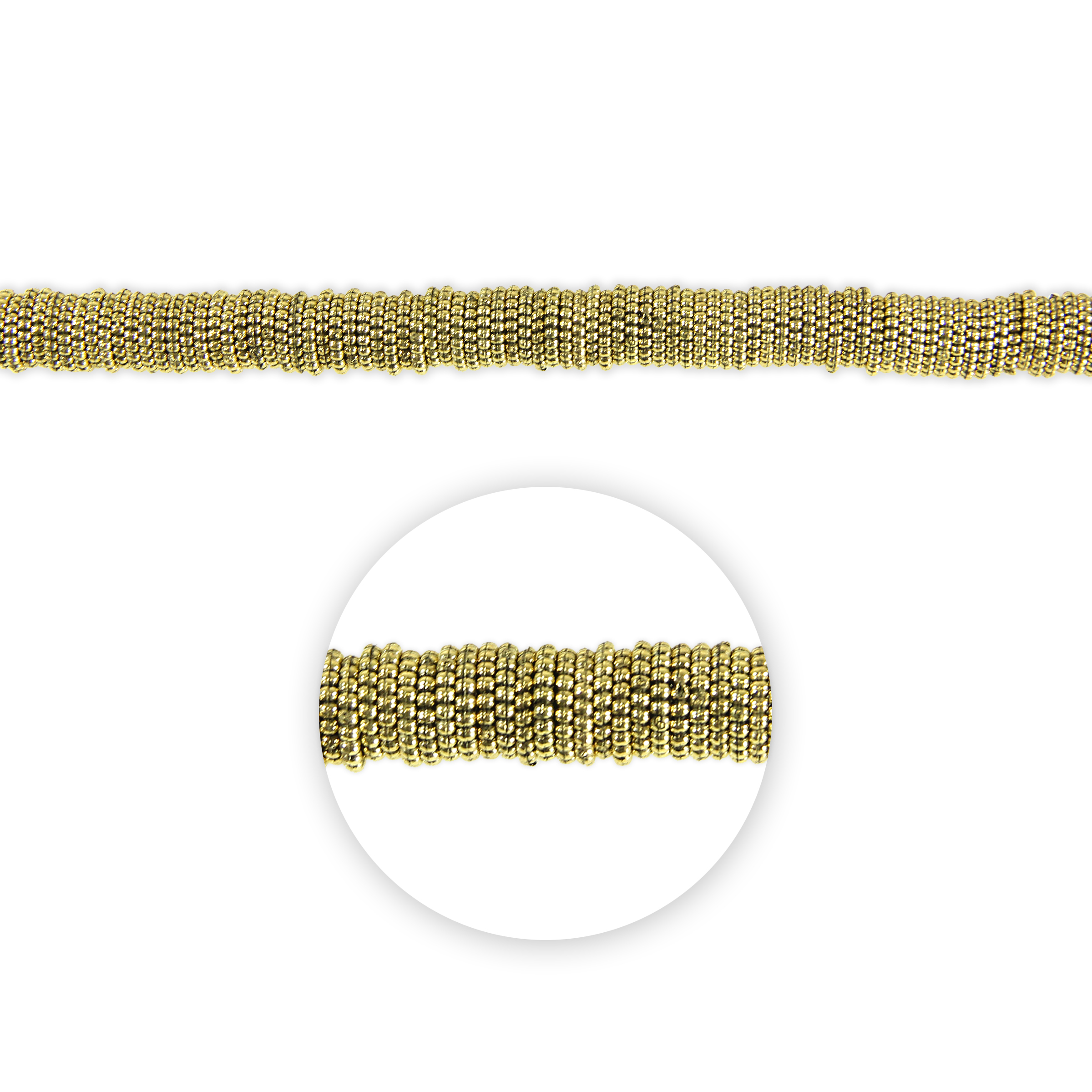 Blue Moon Beads Strand 14\u0022Plastic Spacer Disc, Gold