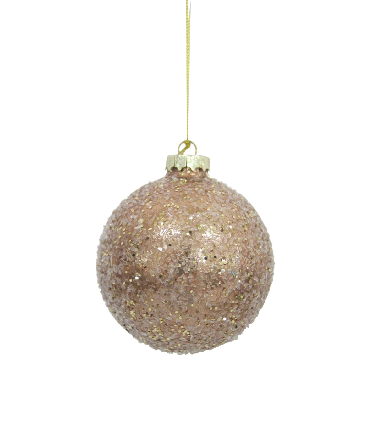 Maker\u0027s Holiday Christmas Holiday Charm Glitter Globe Ornament