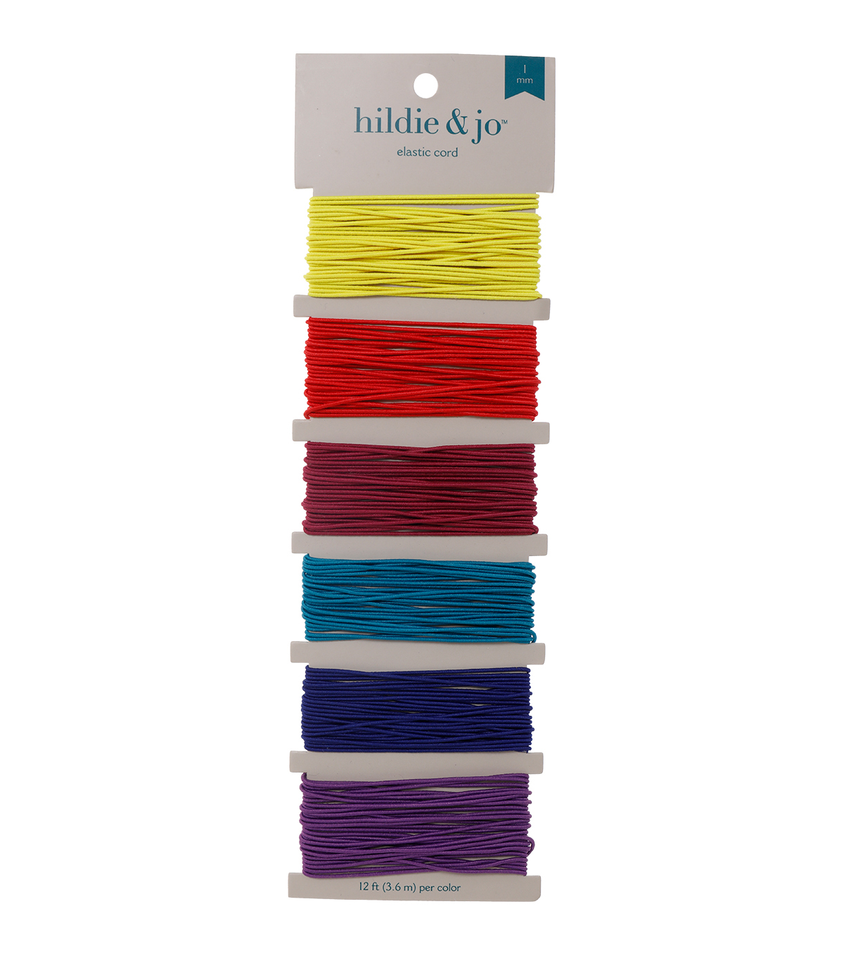 Jewelry Fundamentals Cords & More Thick Elastic Cord Variety Pack, Fiesta