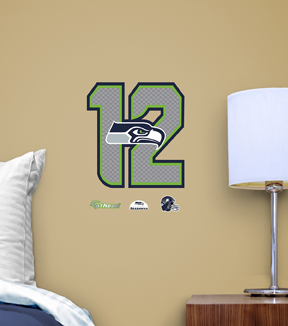 Seattle Seahawks Fat Head Wall Decal-Logo