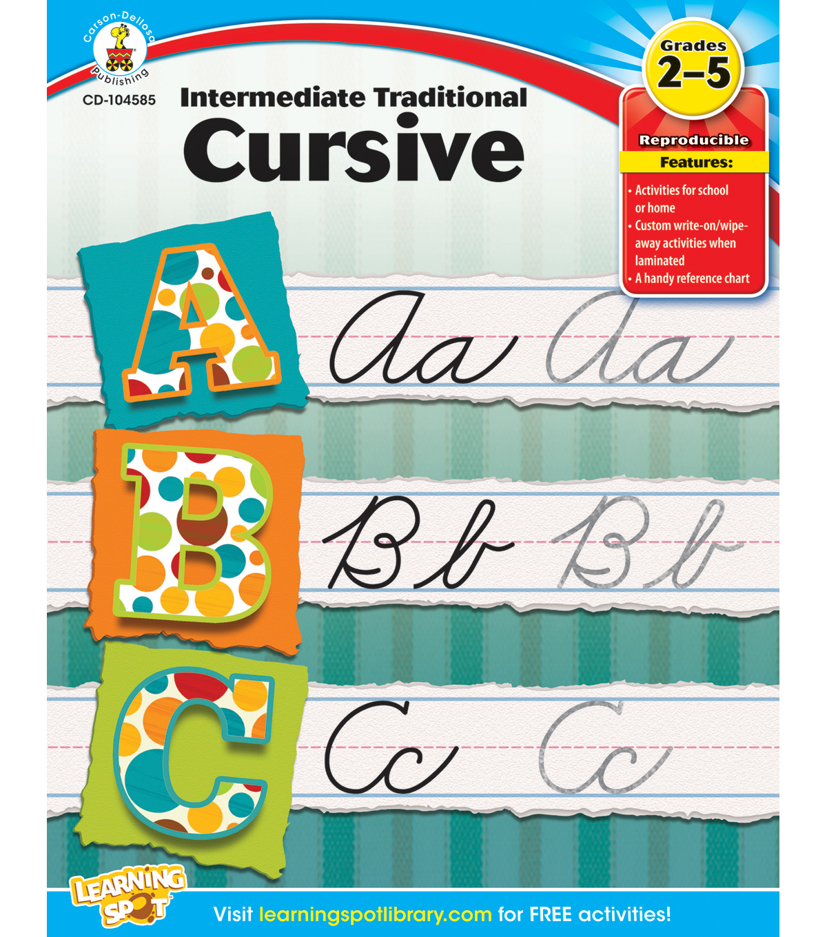 Carson-Dellosa Intermediate Traditional Cursive Books
