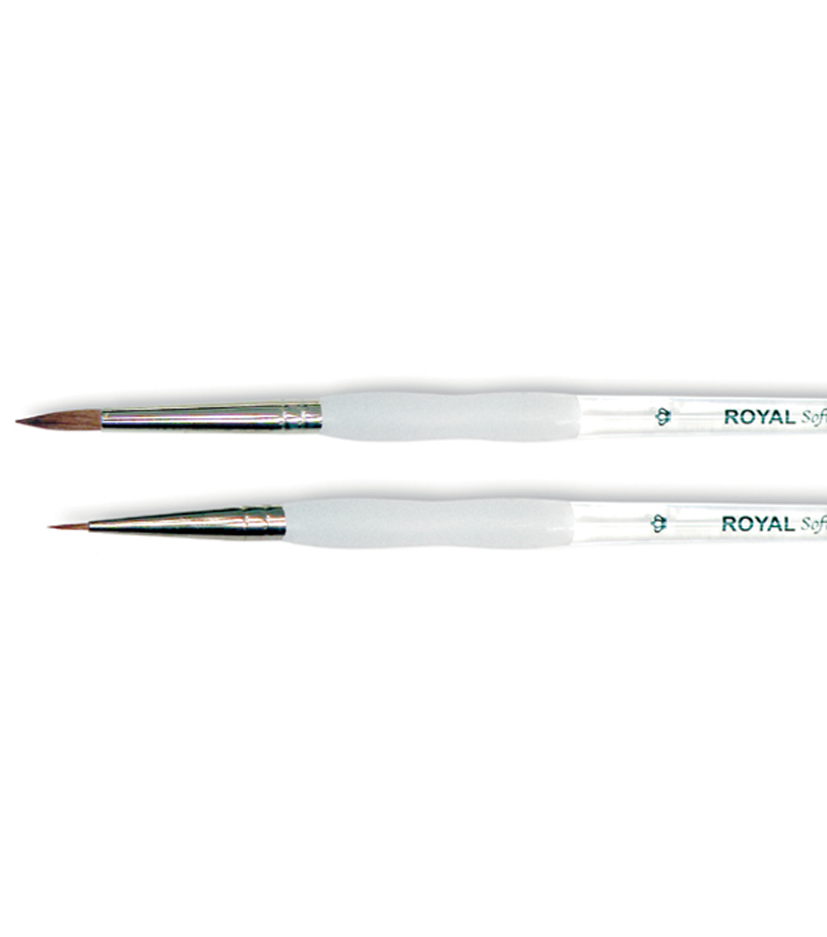 Royal Brush-Soft-Grip Pure Sable Detail & Round Brushes-Size 1