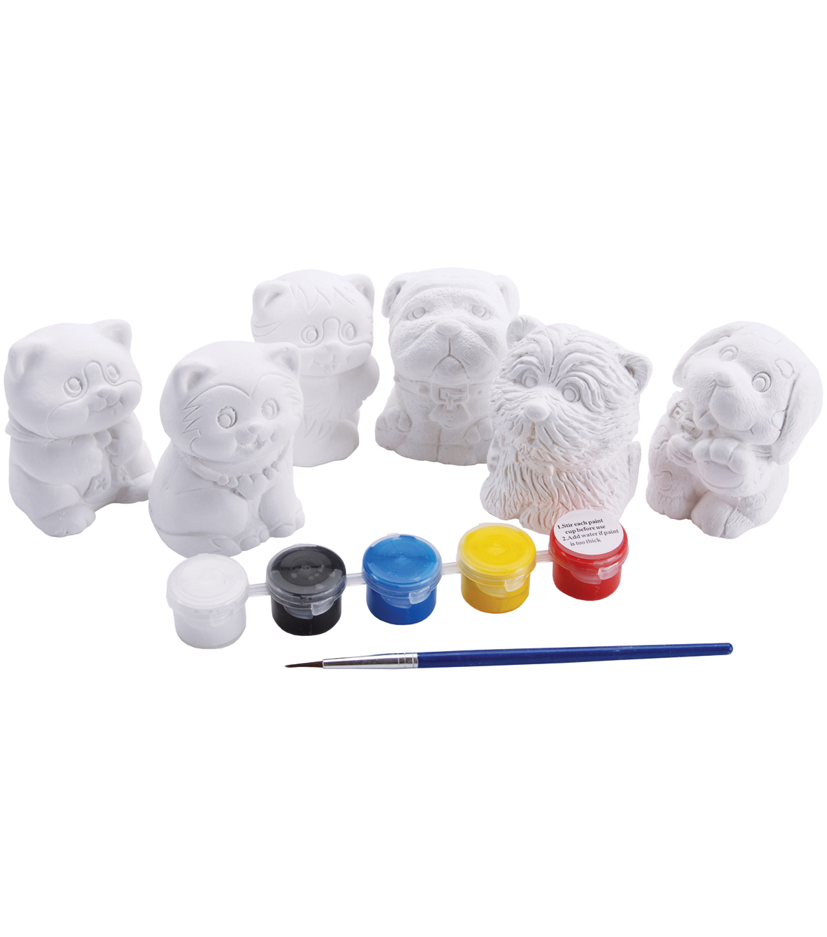 You Paint It Plaster Kit Value Pack-Cats & Dogs