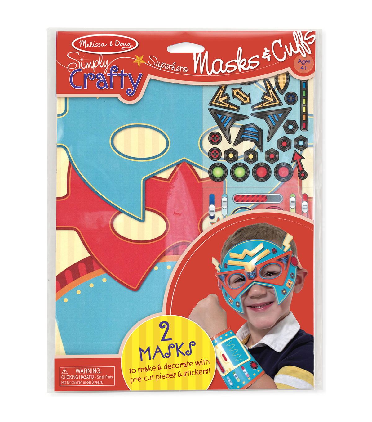 Melissa & Doug Simply Crafty Superhero Masks & Cuffs Kit-Makes 2