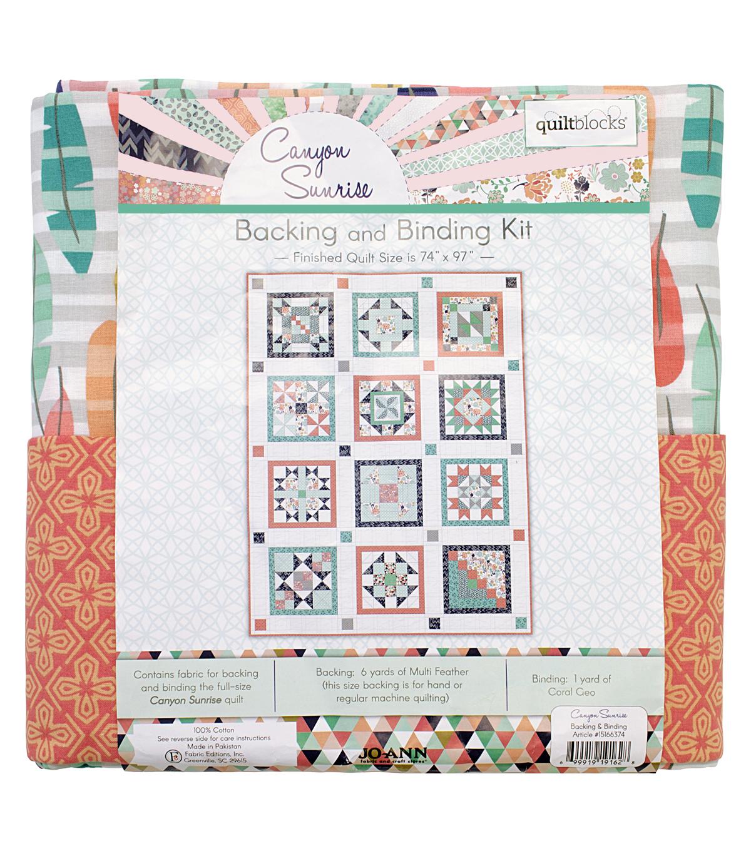 Quilt Block Canyon Sunrise Backing & Binding Kit | JOANN : joann fabrics quilt kits - Adamdwight.com