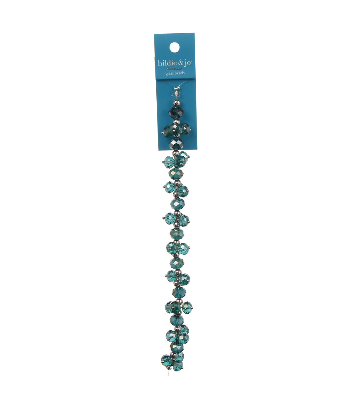 Blue Moon Beads 7\u0022 Crystal Strand, Dangles, Teal