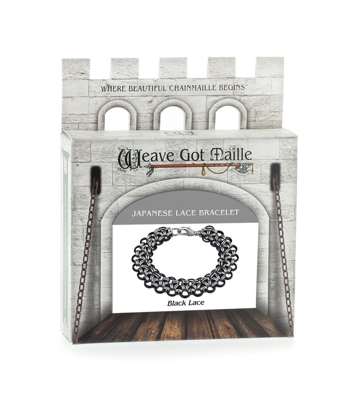 Weave Got Maille Lace Chainmaille Bracelet Kit-Black