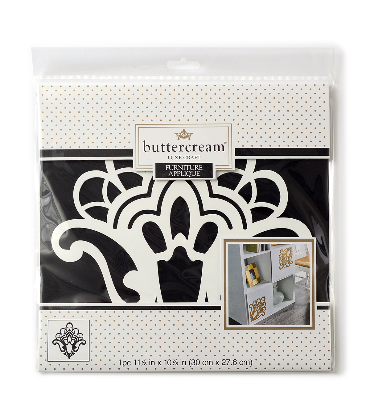 Buttercream™ Olivia Collection Large Furniture Applique-Scalloped Flourish