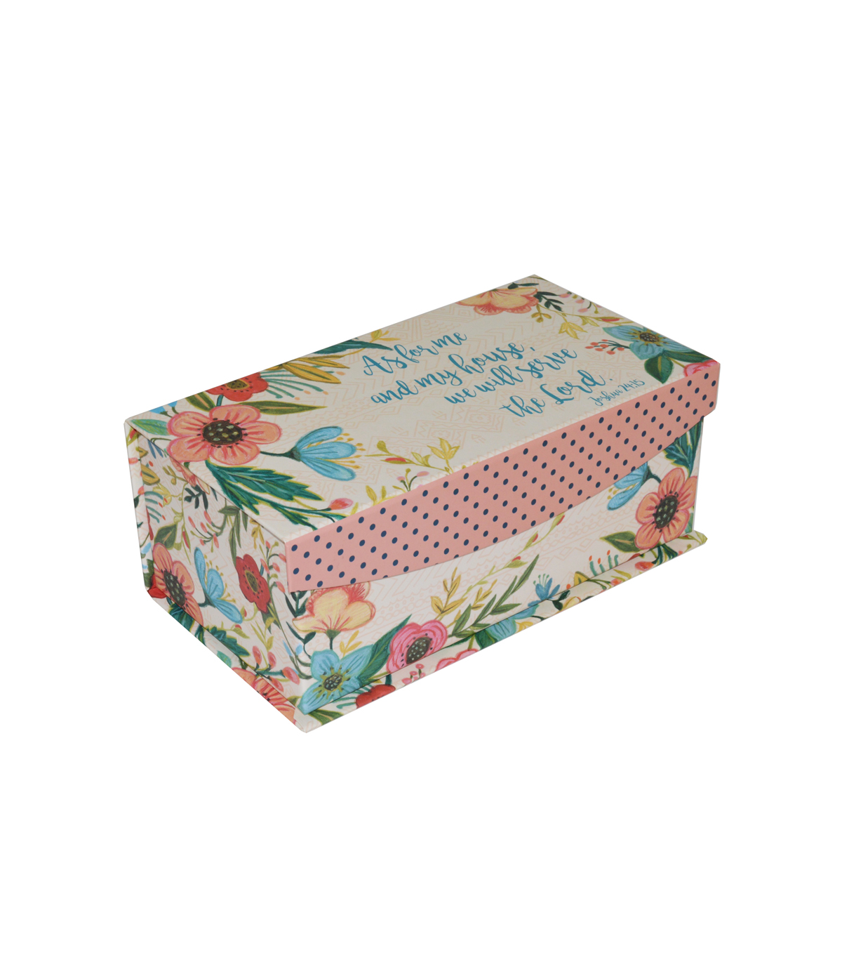 Organizing Essentials™ Medium Flip Top Box-Floral Paper