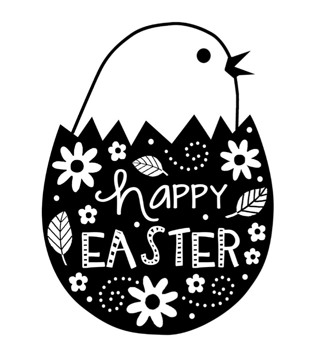 Gourmet Rubber Stamps Happy Easter Egg Cling Stamps 1.88''x1.5''