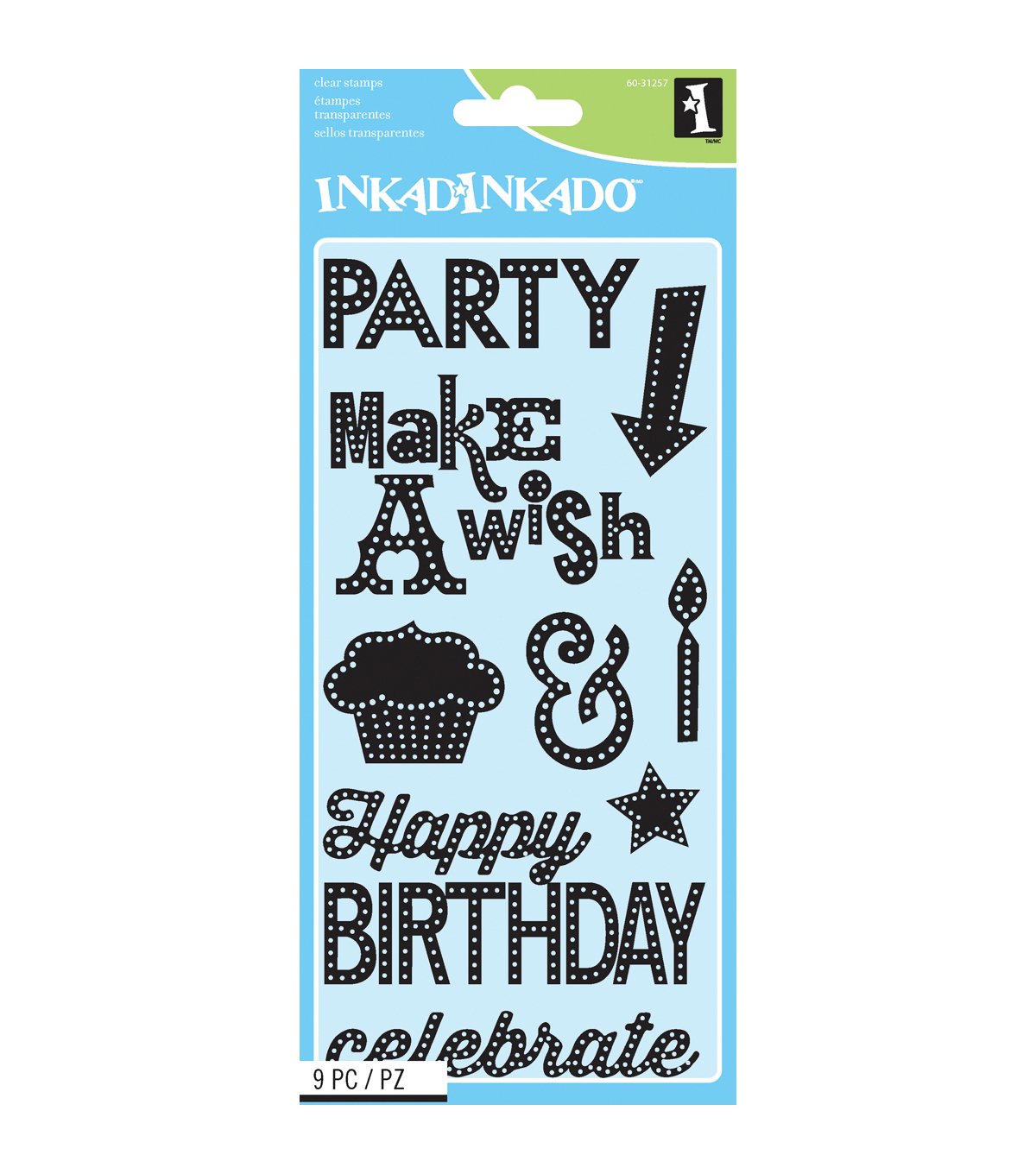 Inkadinkado Marquee Birthday Clear Stamp Sheet