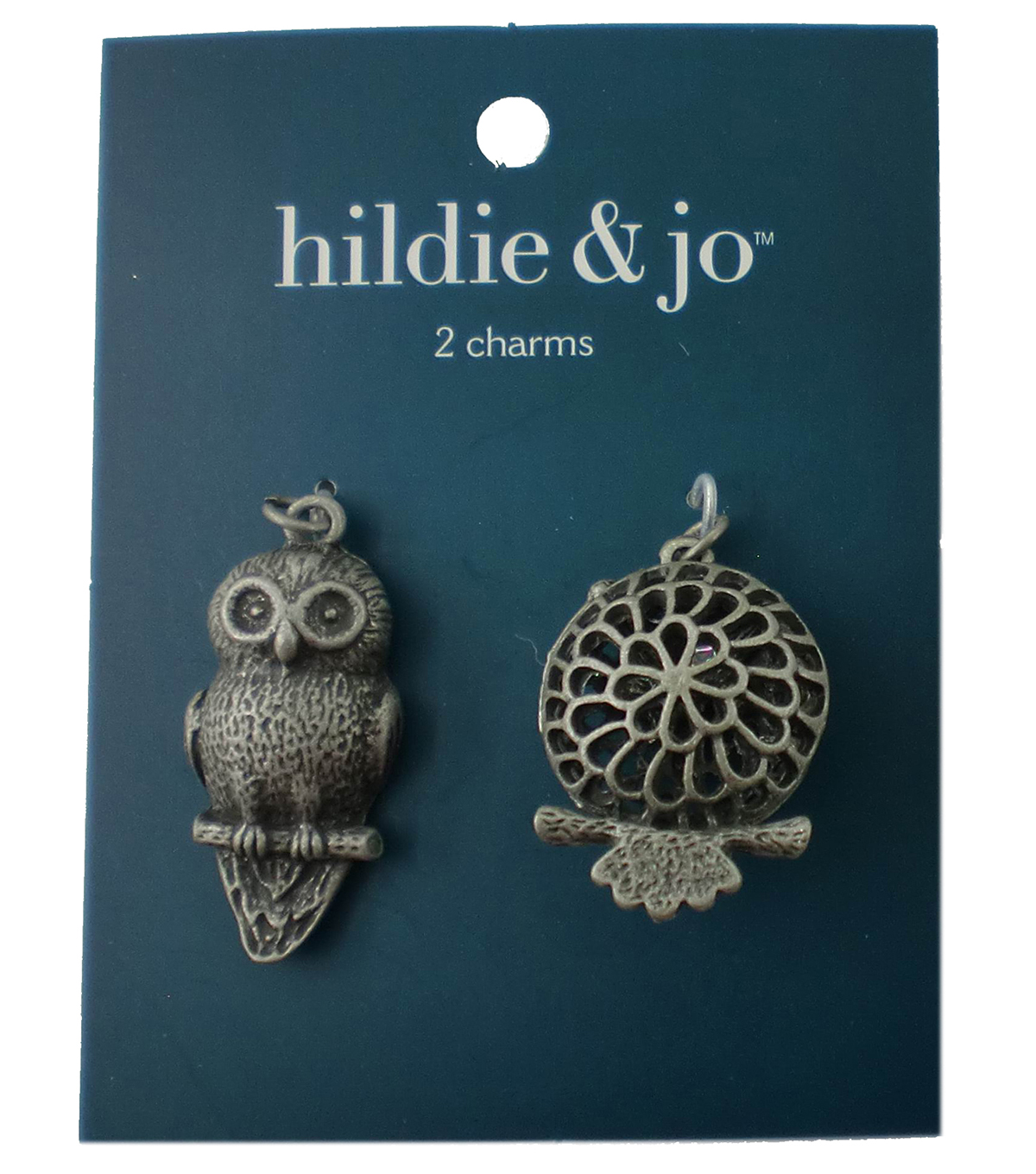 hildie & jo™ 2 Pack Owl Antique Silver Charms
