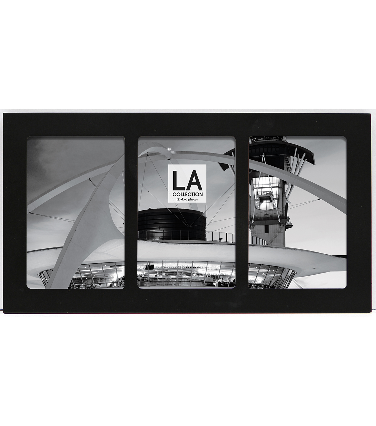 LA Collection Arrowhead Series 3 Openings Flat Top Tabletop Frame-Black