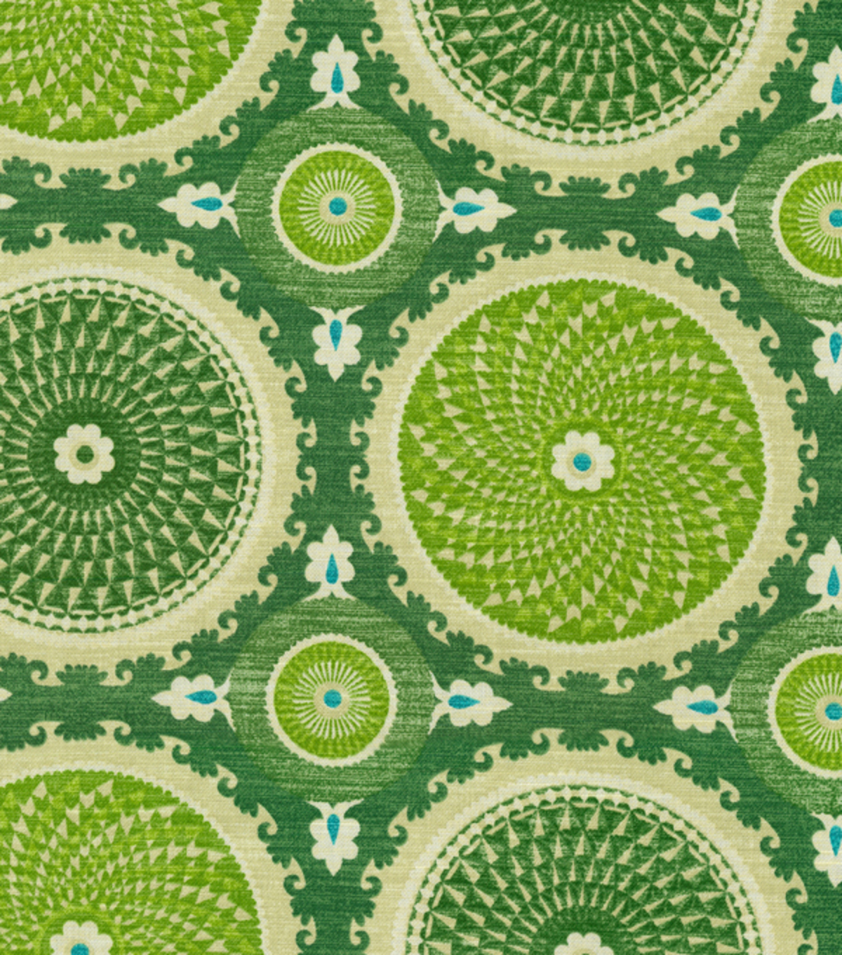 "Home Decor 8""x8"" Fabric Swatch-Waverly Bohemian Swirl Jade"