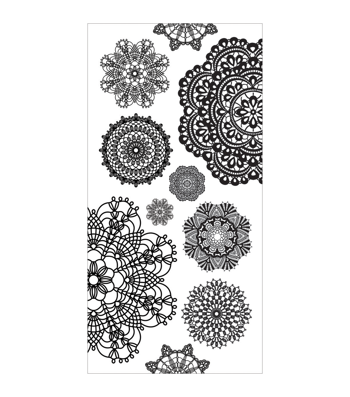 Kaisercraft Doilies Clear Stickers