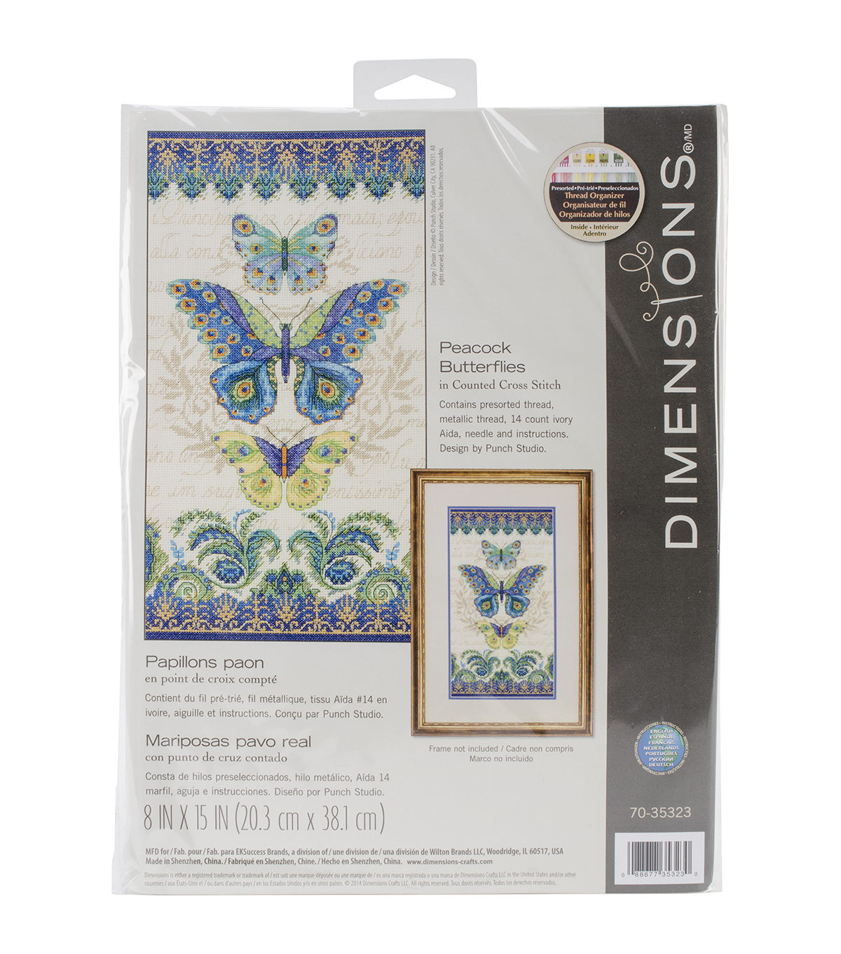 Dimensions Peacock Butterflies Counted Cross Stitch Kit
