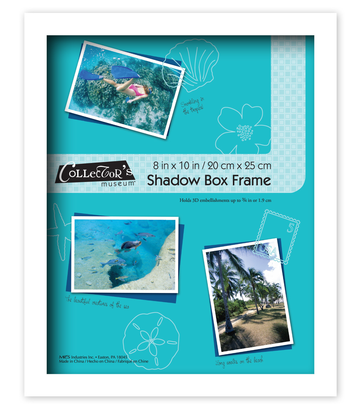 Collector\u0027s Museum Shadowbox Frame 8x10-Omega White