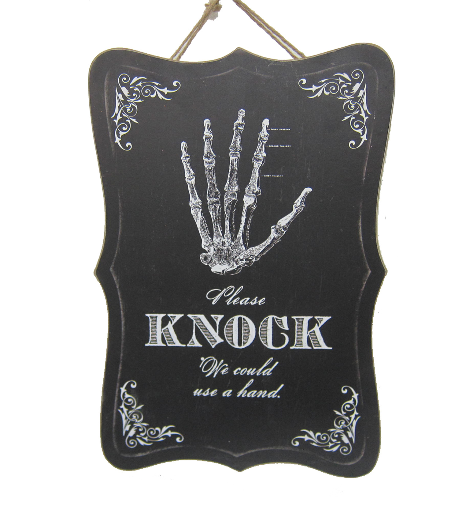 Maker\u0027s Halloween Spooky Wall Decor-Please Knock We Could Use a Hand