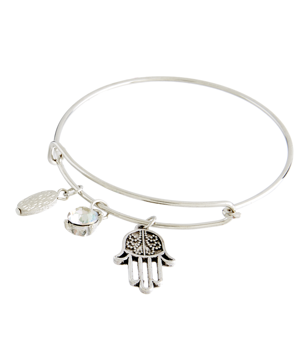 Finished Bracelet Hamsa Hand - Silver