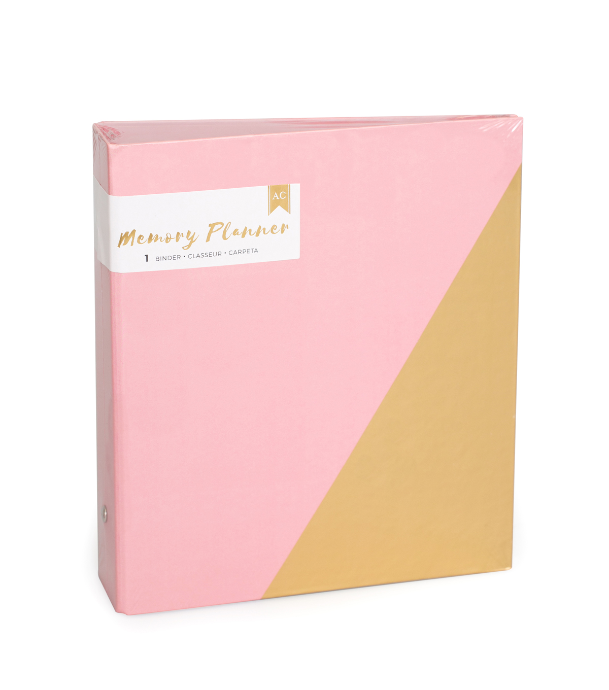 American Crafts™ Memory Planner Binder-Pink & Gold
