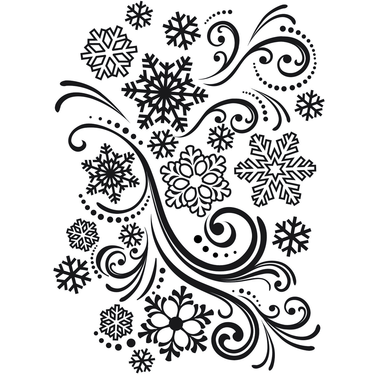 Darice Embossing Folder Snowflakes And Flourishes