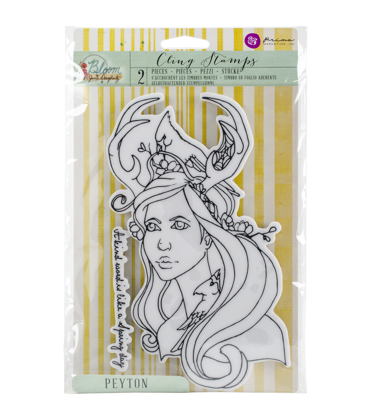 Prima Marketing Bloom Cling Rubber Stamps-Peyton