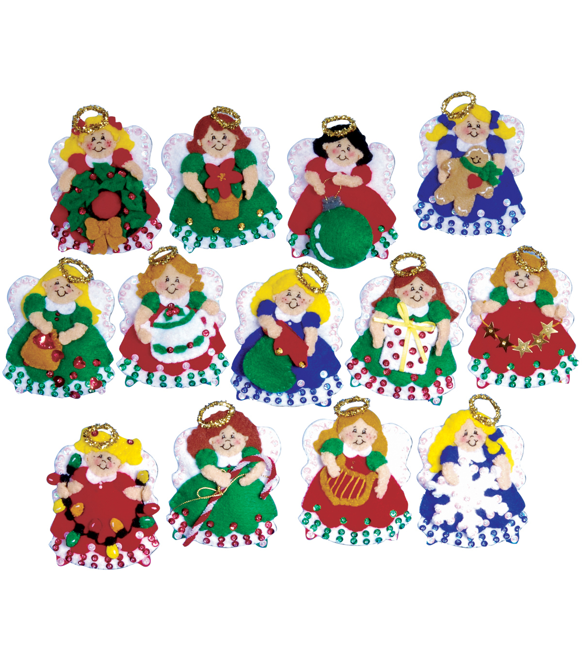 Tobin Ornaments Felt Applique Kit Angels