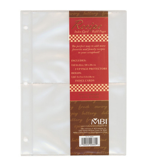 5\u0022x7\u0022 Family Recipe 3-Ring Refill Pages-10PK