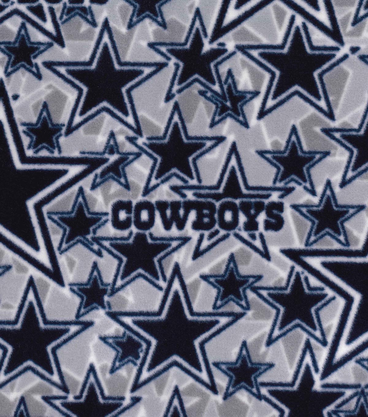 Dallas Cowboys Fleece Fabric 58\u0022-Logo