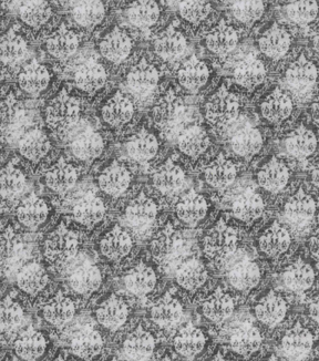 Vintage Cotton Fabric 43\u0027\u0027-Gray Distressed Damask