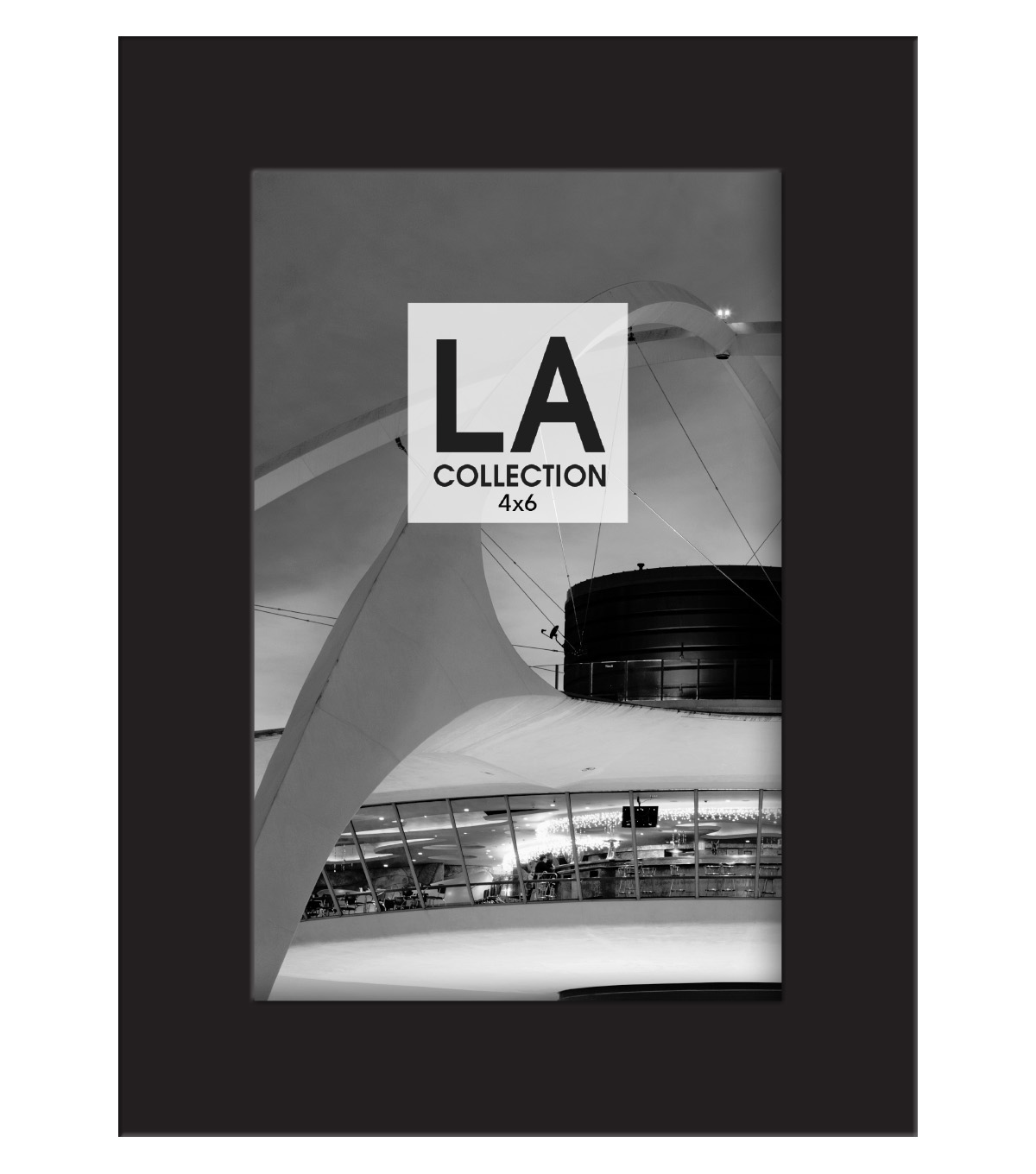 LA Collection Wood Frame 4x6-Black