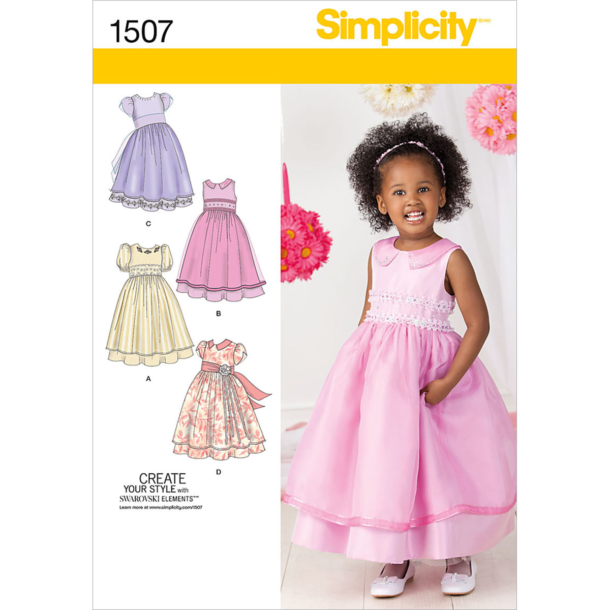 Simplicity Pattern 1507AA 1/2-1-2-3 -Toddlers Dresses