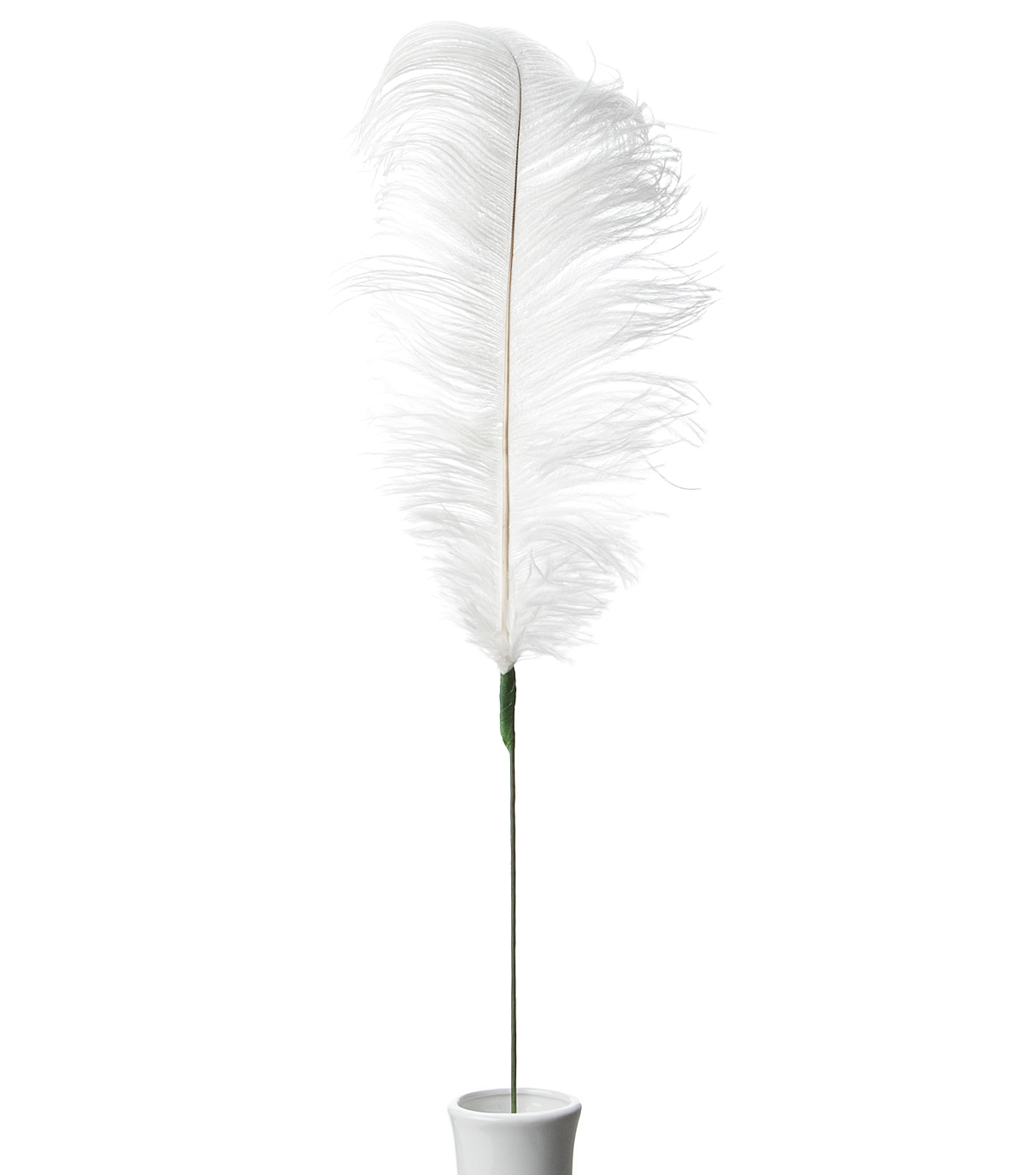 Bloom Room 30\u0022 Ostrich Feather Floral Stem-Off White