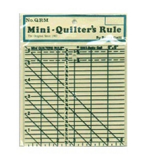 Mini Quilter\u0027s Rule-6\u0022 X 6\u0022 Black Grid