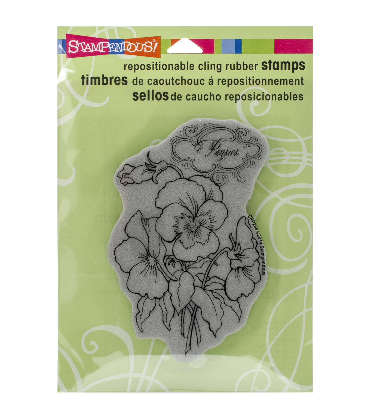 Pansy -cling Rubber Stamp