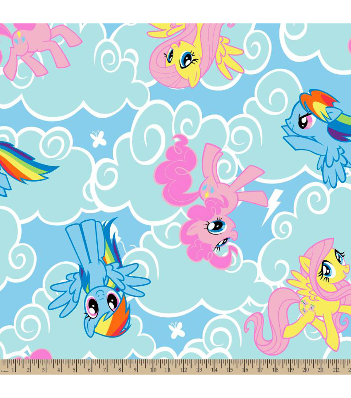 "Hasbro® My Little Pony Fleece Fabric 59""-Cloud Toss"
