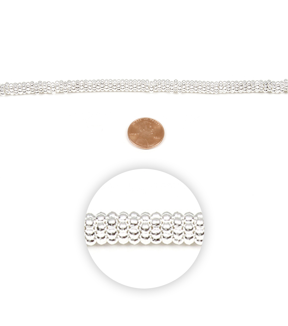 Strand Metal Daisy 6Mm Silver