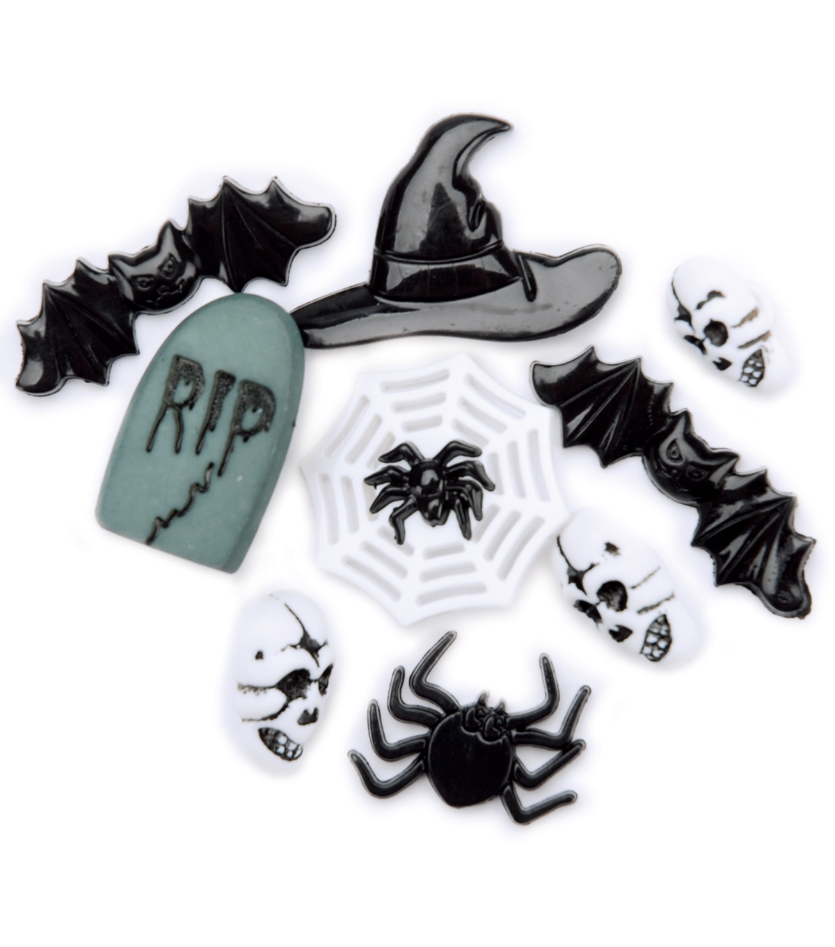 Favorite Findings Buttons-Halloween Night (Scary) 8/pk