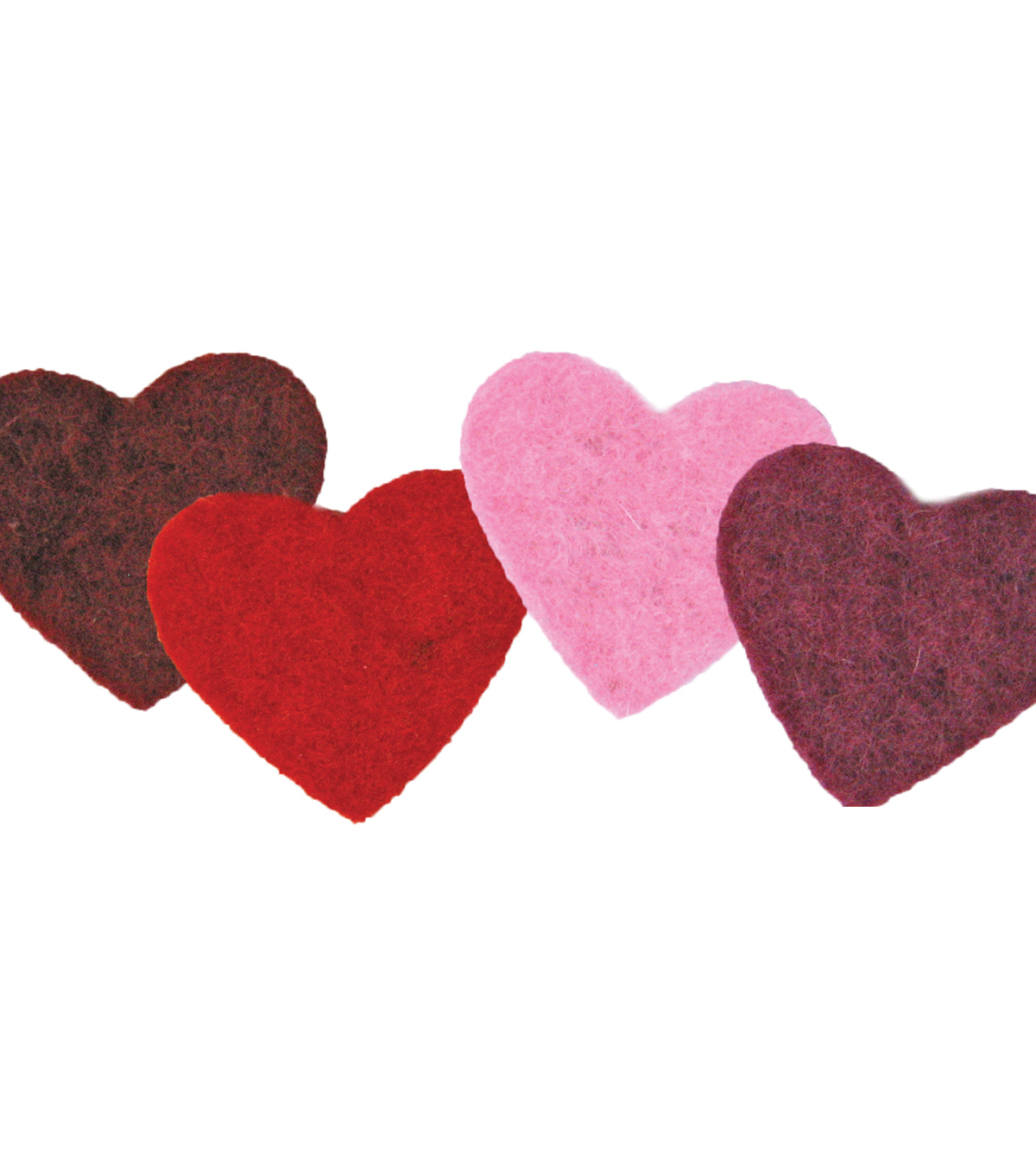 Feltworks Multicolor Hearts 4 Pack