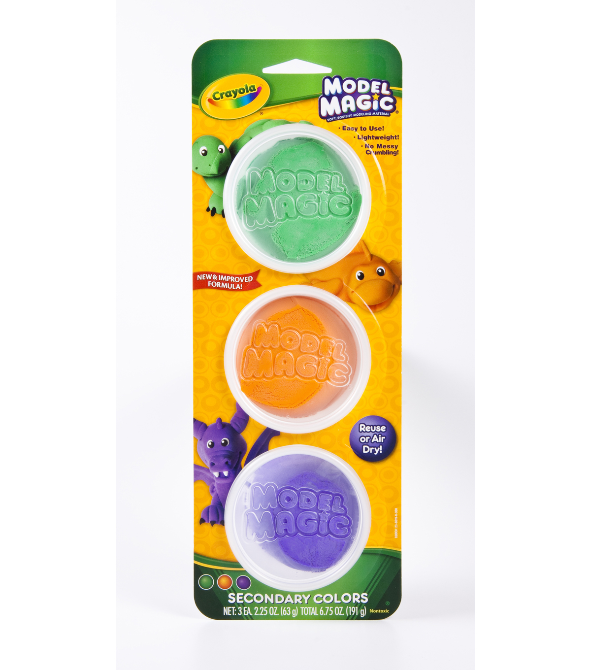 Crayola® Model Magic™ 3-Count Tubs, Secondary Colors