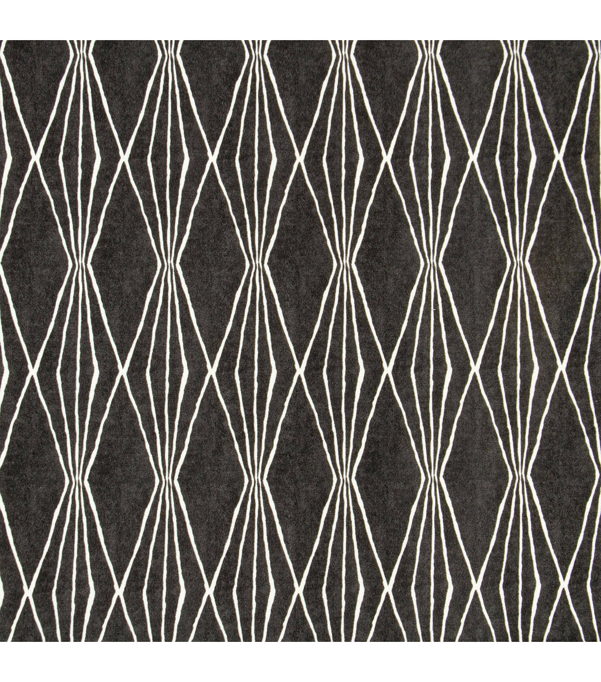 Robert Allen @ Home Print Fabric 55\u0022-Handcut Shapes /  Charcoal