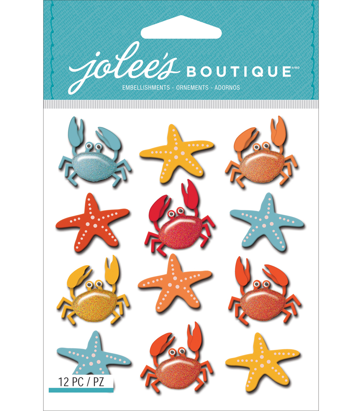 Jolee\u0027s Boutique Dimensional Stickers-Crabs & Starfish