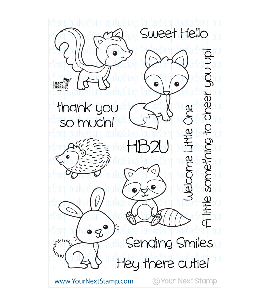 Your Next Stamp Clear Stamps-Woodland Cuties