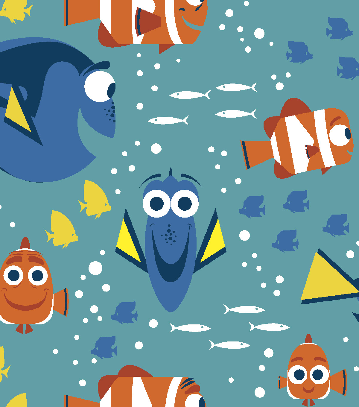 Disney® Finding Dory Flannel Fabric 42\u0027\u0027-School of Fish